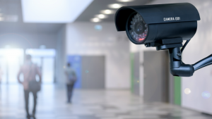 School intercom and camera security system