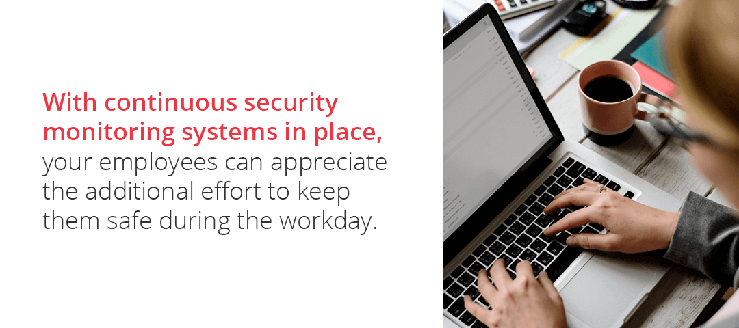 Benefits of continuous security monitoring services